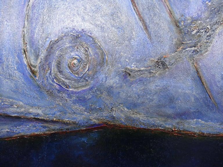 Cécile Roncier, Painting Blue Marge, 2017 For Sale 8