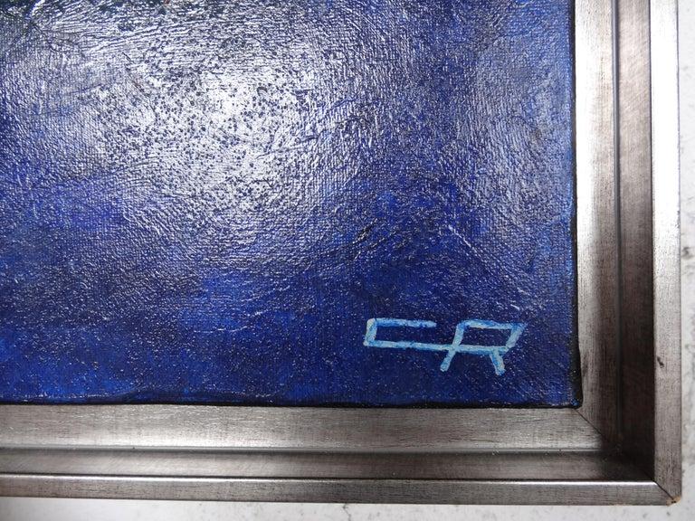 Cécile Roncier, Painting Blue Marge, 2017 For Sale 9