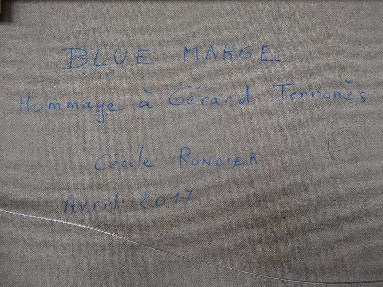 Cécile Roncier, Painting Blue Marge, 2017 For Sale 10