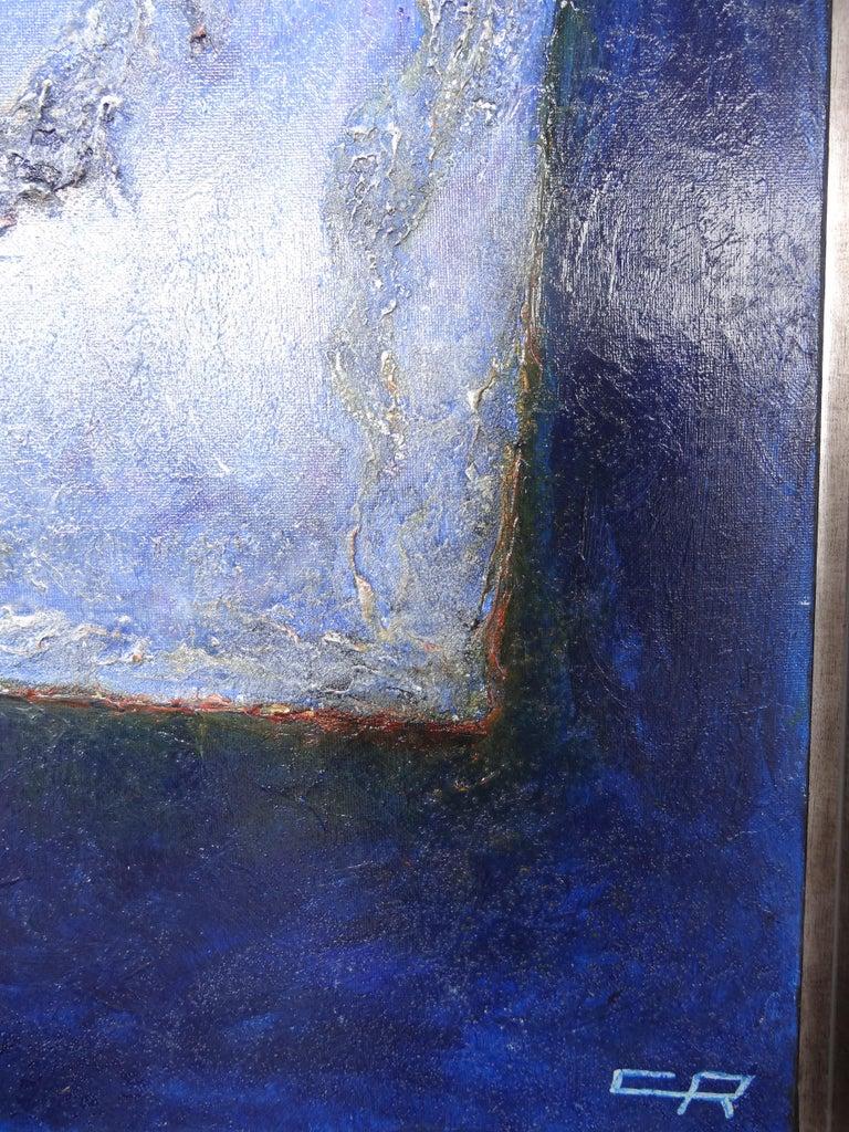 Other Cécile Roncier, Painting Blue Marge, 2017 For Sale