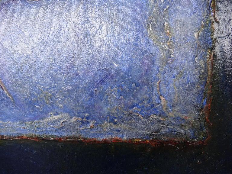 French Cécile Roncier, Painting Blue Marge, 2017 For Sale