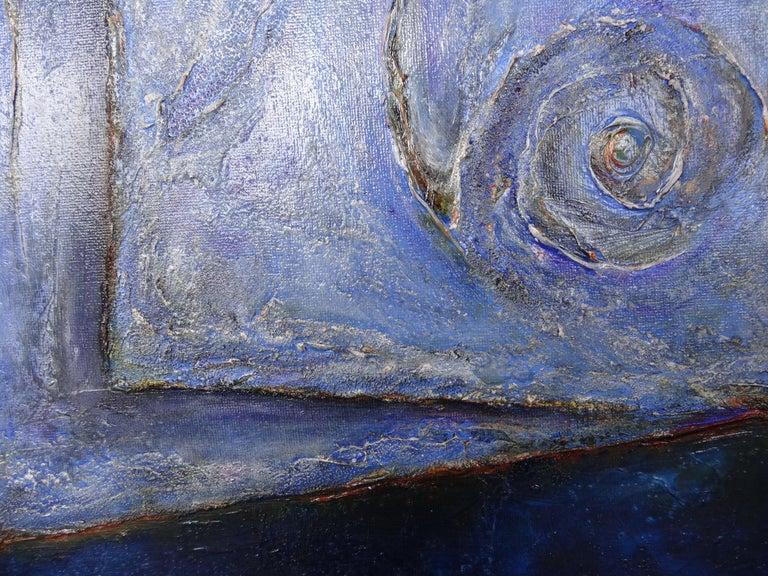 Painted Cécile Roncier, Painting Blue Marge, 2017 For Sale