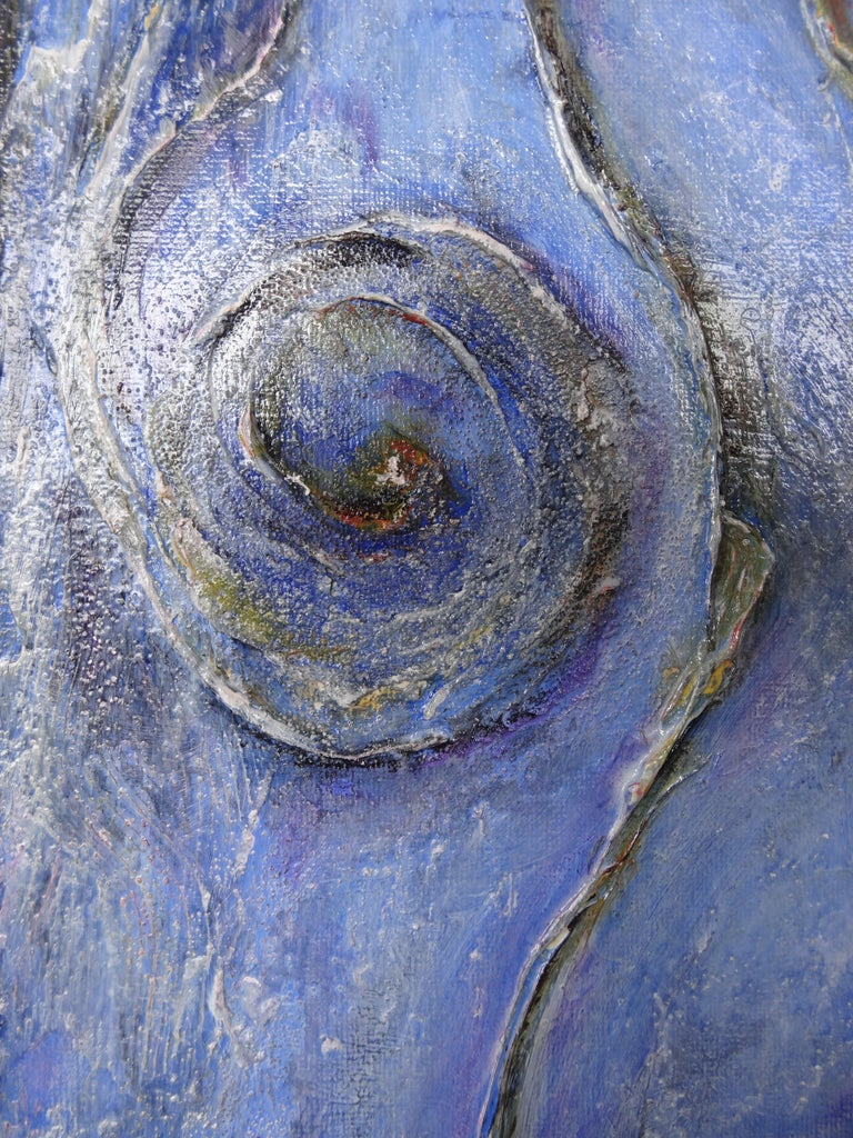 Cécile Roncier, Painting Blue Marge, 2017 In New Condition For Sale In Tours, FR