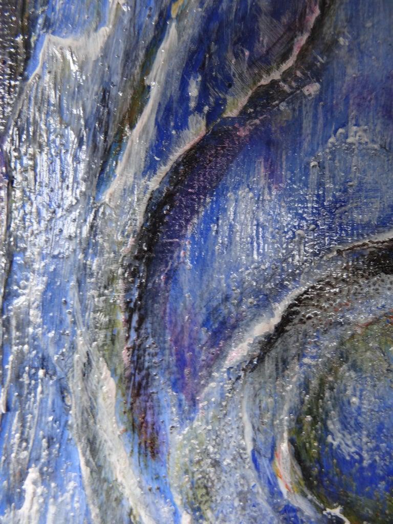 Contemporary Cécile Roncier, Painting Blue Marge, 2017 For Sale