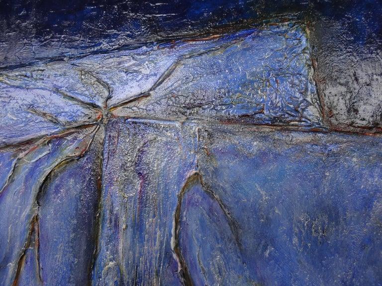 Canvas Cécile Roncier, Painting Blue Marge, 2017 For Sale