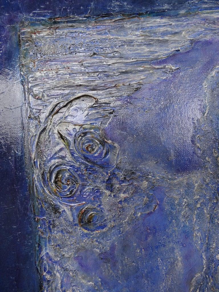 Cécile Roncier, Painting Blue Marge, 2017 For Sale 1