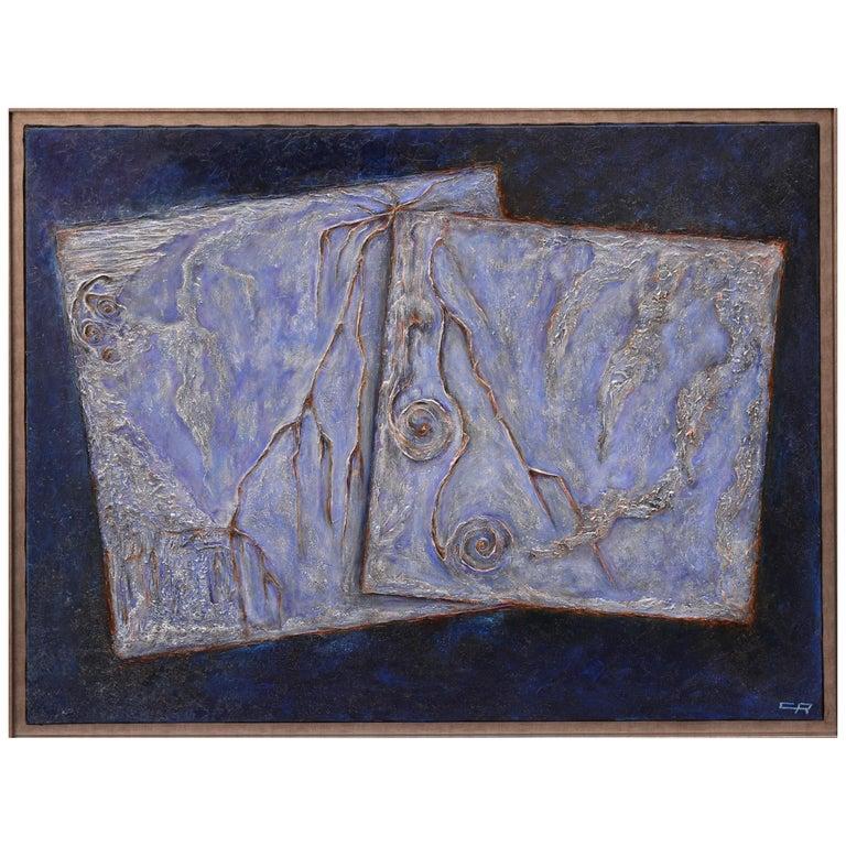 Cécile Roncier, Painting Blue Marge, 2017 For Sale