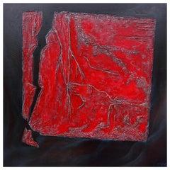 Cécile Roncier, Painting Red Clinamen, 2017