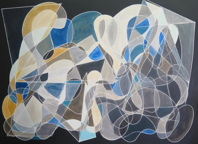 Cecilia Biagini Abstract Painting - Retro - Active
