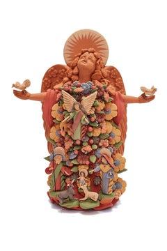 Angel Místico - Mistic Angel  / Ceramics Mexican Folk Art Clay