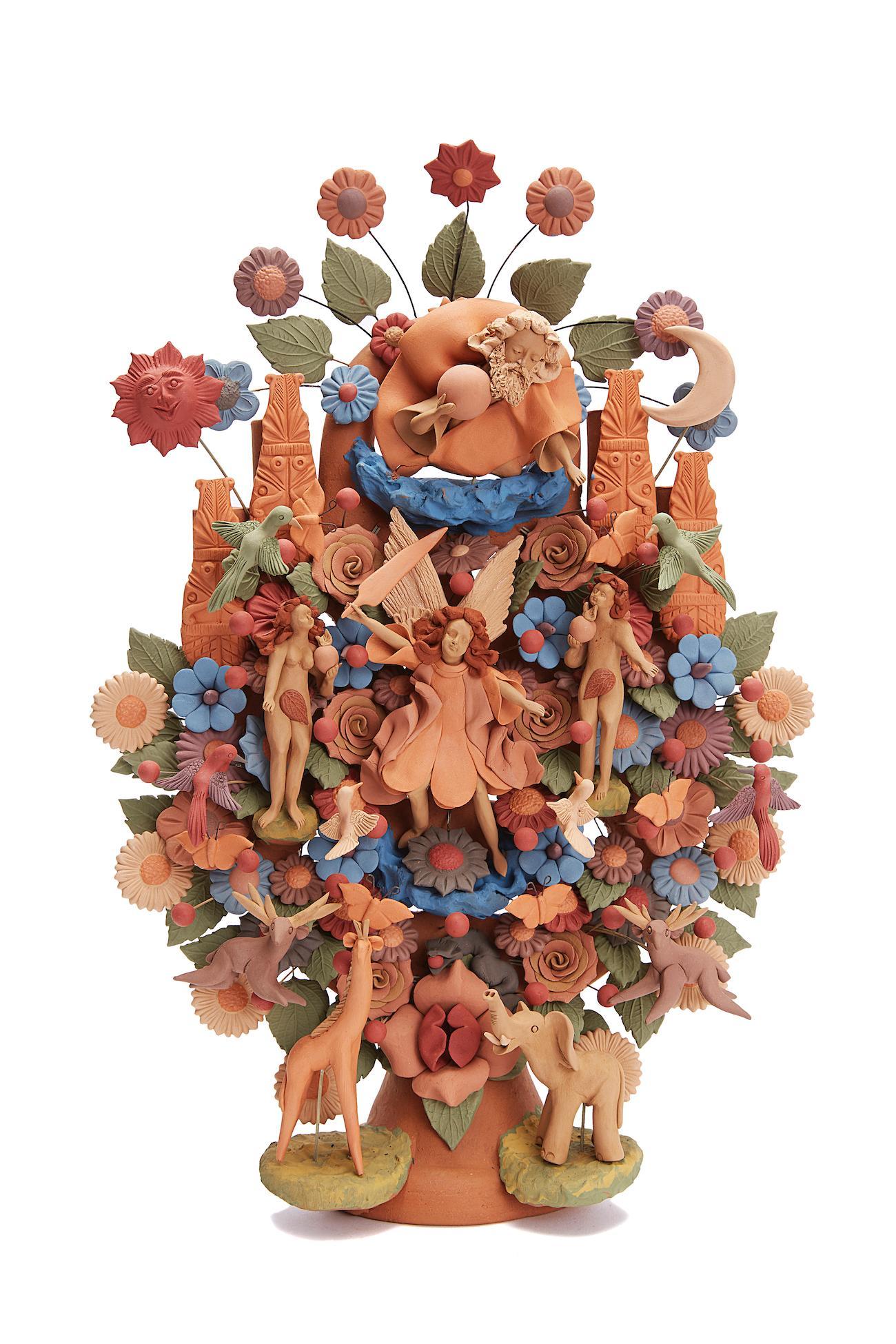 Arbol de la vida -  Tree of life  / Ceramics Mexican Folk Art Clay
