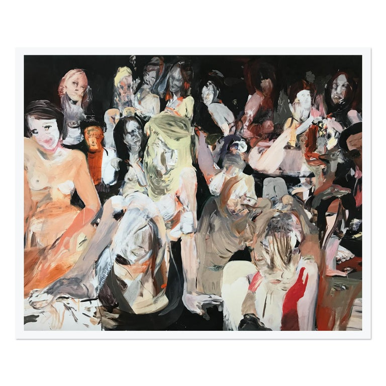 Cecily Brown Figurative Print - All the Nightmares Came Today, Contemporary Painter, Abstract Art, 21st Century