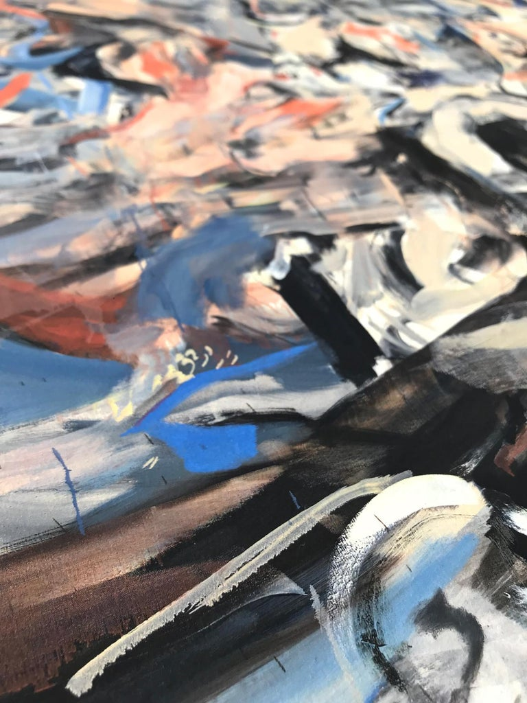 The Last Shipwreck, Contemporary Painter, Abstract Art, 21st Century - Painting by Cecily Brown