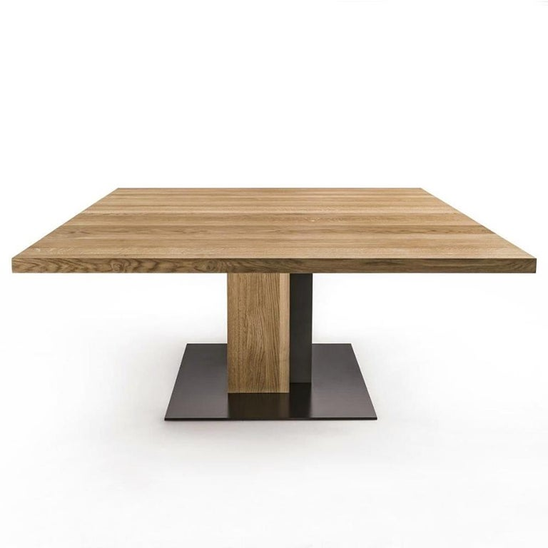 Dining Table cedar and steel in solid natural aromatic