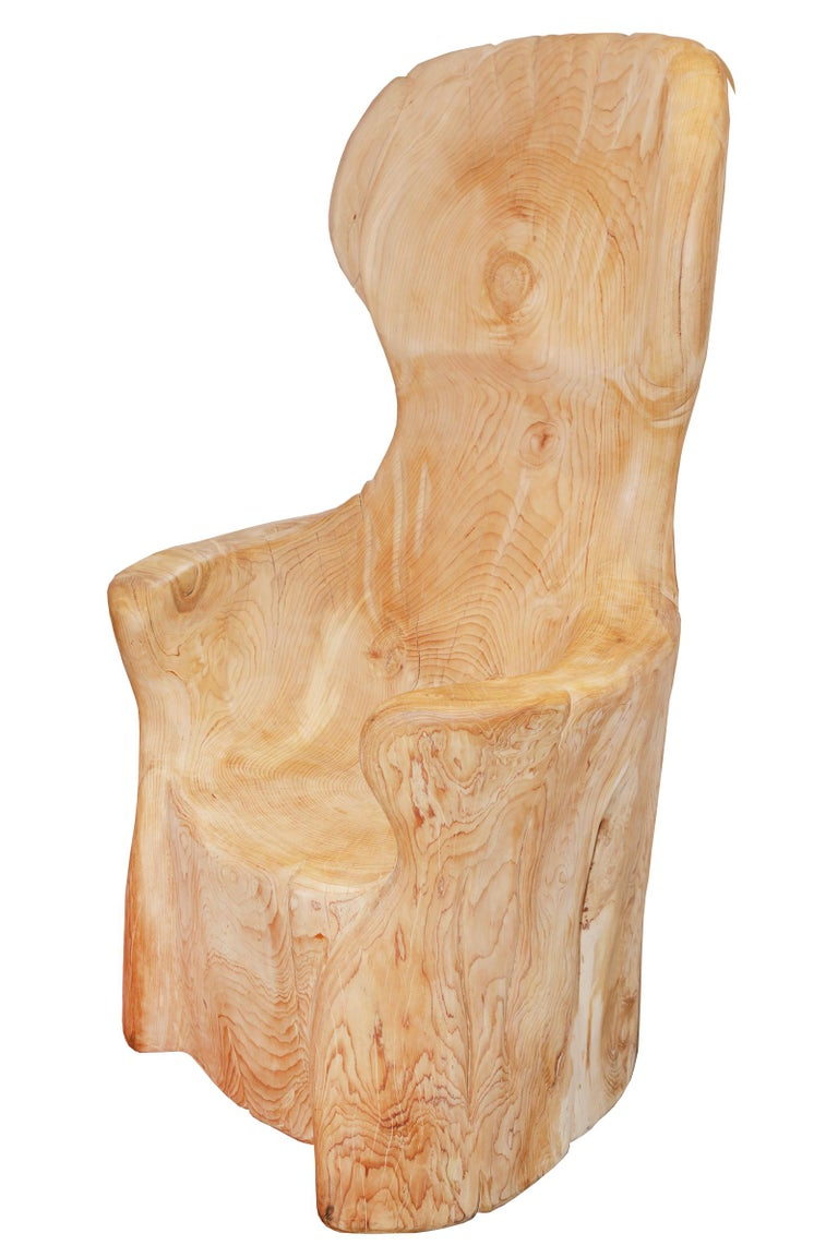 Throne cedar B-made with natural raw cedar wood,