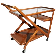 Cedar Midcentury Tea Trolley Cesare Lacca for Cassina
