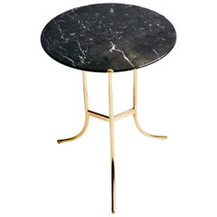 Cedric Hartman Brass and Marble Side Table
