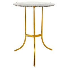 Cedric Hartman Midcentury Brass and Marble Side End Table