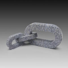 """Granite """"LIAISON"""" with 3 links, Hand Carved Granite Sculpture"""