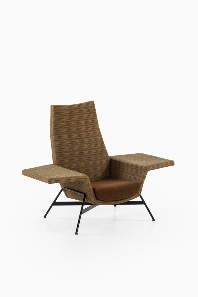 Steel Cees Braakman Easy Chair Produced in the Netherlands For Sale