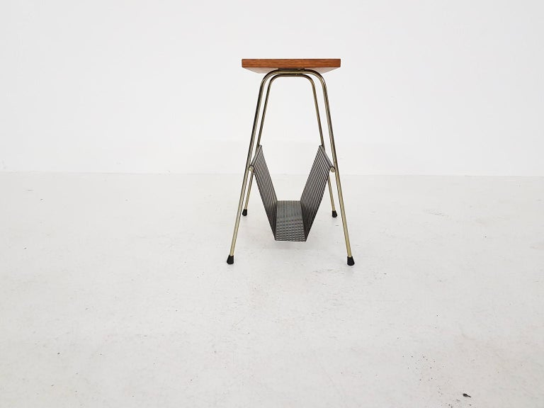 Mid-Century Modern Cees Braakman for Pastoe Attributed Side Table or Magazine Rack, Dutch Modern For Sale