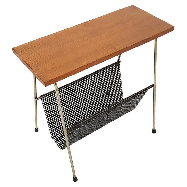 Cees Braakman for Pastoe Attributed Side Table or Magazine Rack, Dutch Modern For Sale