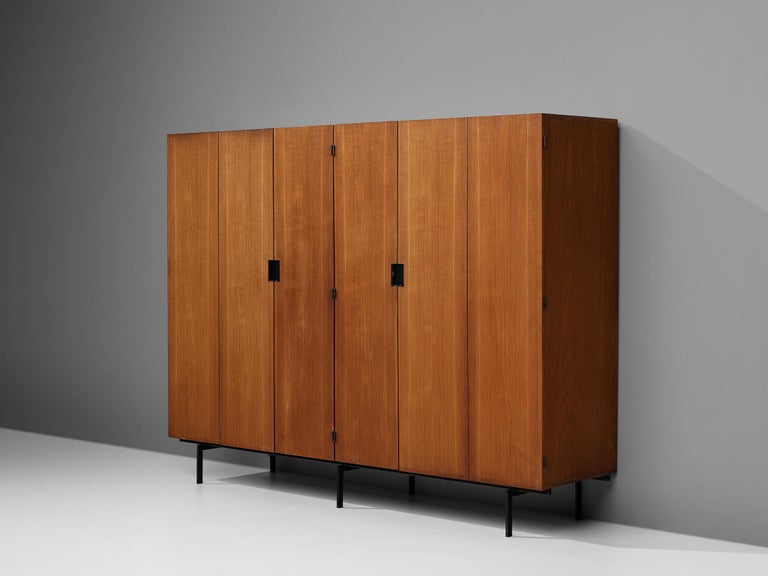 Cees Braakman for Pastoe, large wardrobe, teak, metal, the Netherlands, 1950s
