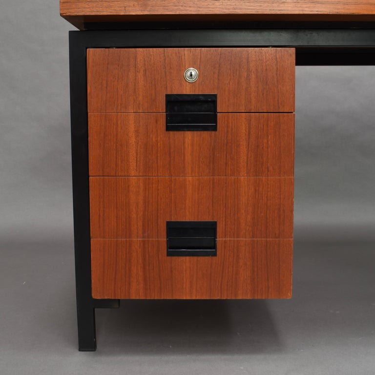 Cees Braakman for Pastoe Model EU02 Japanese Series Desk and Chair in Teak, 1950 For Sale 3