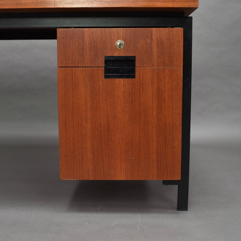 Cees Braakman for Pastoe Model EU02 Japanese Series Desk and Chair in Teak, 1950 For Sale 4