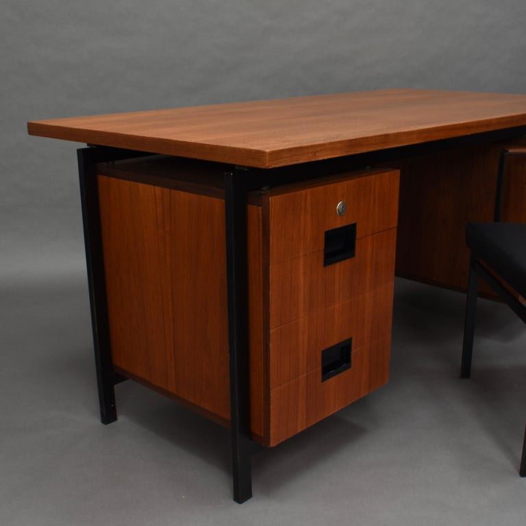 Cees Braakman for Pastoe Model EU02 Japanese Series Desk and Chair in Teak, 1950 For Sale 5