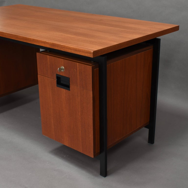 Cees Braakman for Pastoe Model EU02 Japanese Series Desk and Chair in Teak, 1950 For Sale 6