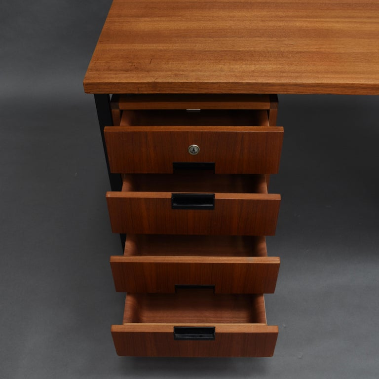 Cees Braakman for Pastoe Model EU02 Japanese Series Desk and Chair in Teak, 1950 For Sale 8
