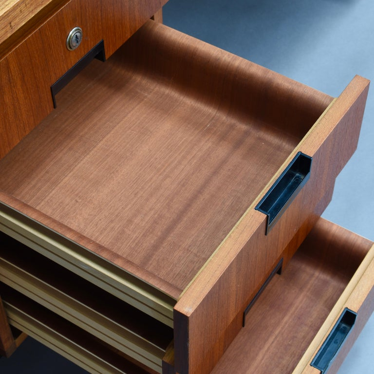 Cees Braakman for Pastoe Model EU02 Japanese Series Desk and Chair in Teak, 1950 For Sale 9