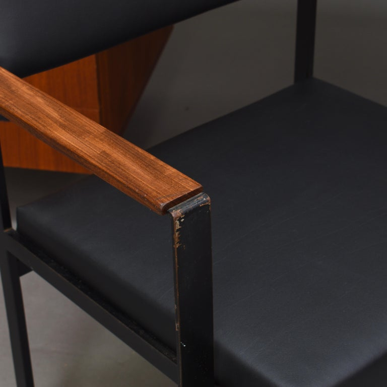 Cees Braakman for Pastoe Model EU02 Japanese Series Desk and Chair in Teak, 1950 For Sale 11