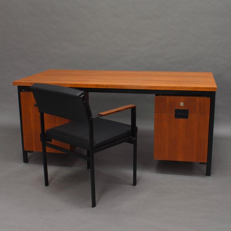 Mid-Century Modern Cees Braakman for Pastoe Model EU02 Japanese Series Desk and Chair in Teak, 1950 For Sale