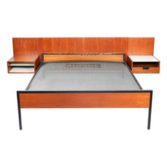 Cees Braakman Japanese Series Headboard and Bed by Pastoe & Auping