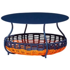Cegonha Brazilian Contemporary Outdoor Metal Center Table by Lattoog