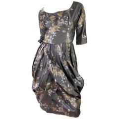 Ceil Chapman Floral Silk Dress, 1950s