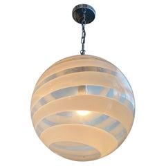 Ceiling Fixture, Global Pendant Light, White, Small
