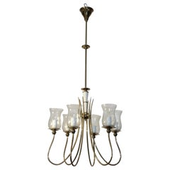 Ceiling Lamp 1940s in the Style of Paolo Buffa