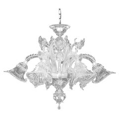 Artistic Ceiling Lamp 6 arms Crystal Murano Glass by Multiforme