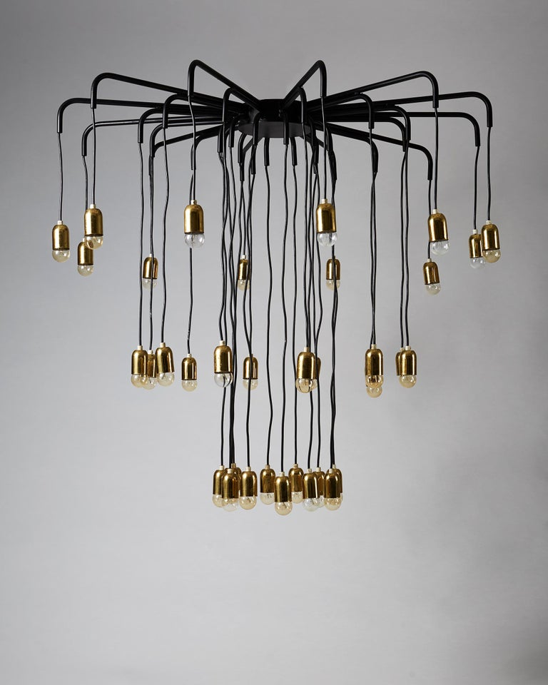 Brass and steel.   Height: 100 cm/ 3' 3 3/8