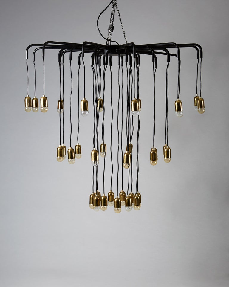 Scandinavian Modern Ceiling Lamp, Anonymous, Sweden, 1950s For Sale