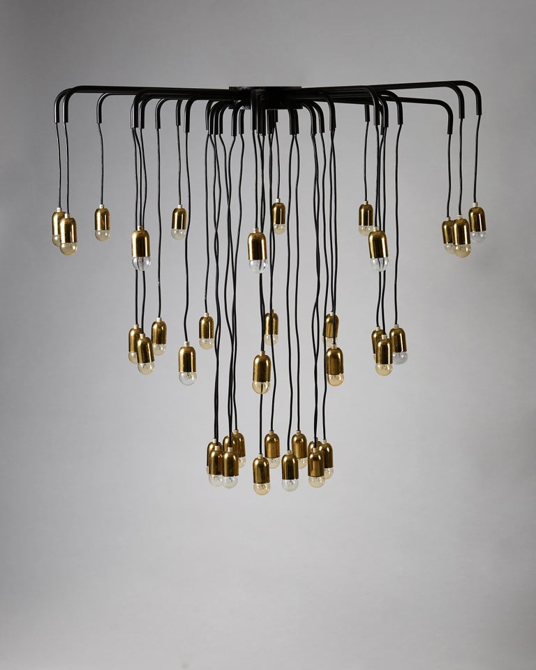Swedish Ceiling Lamp, Anonymous, Sweden, 1950s For Sale