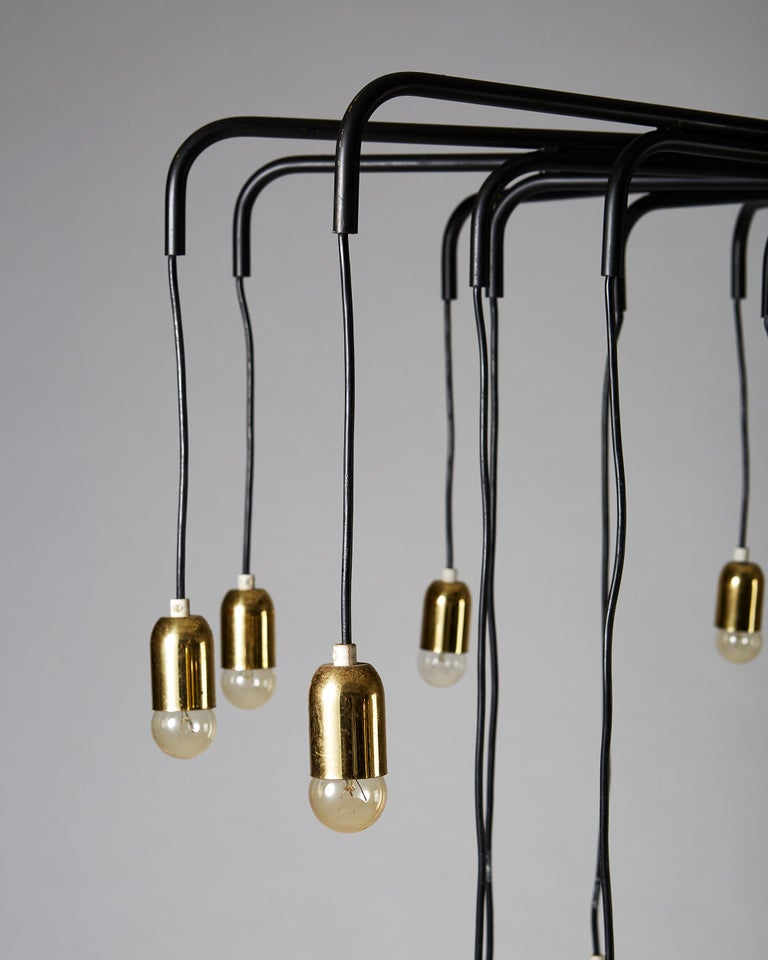 Mid-20th Century Ceiling Lamp, Anonymous, Sweden, 1950s For Sale