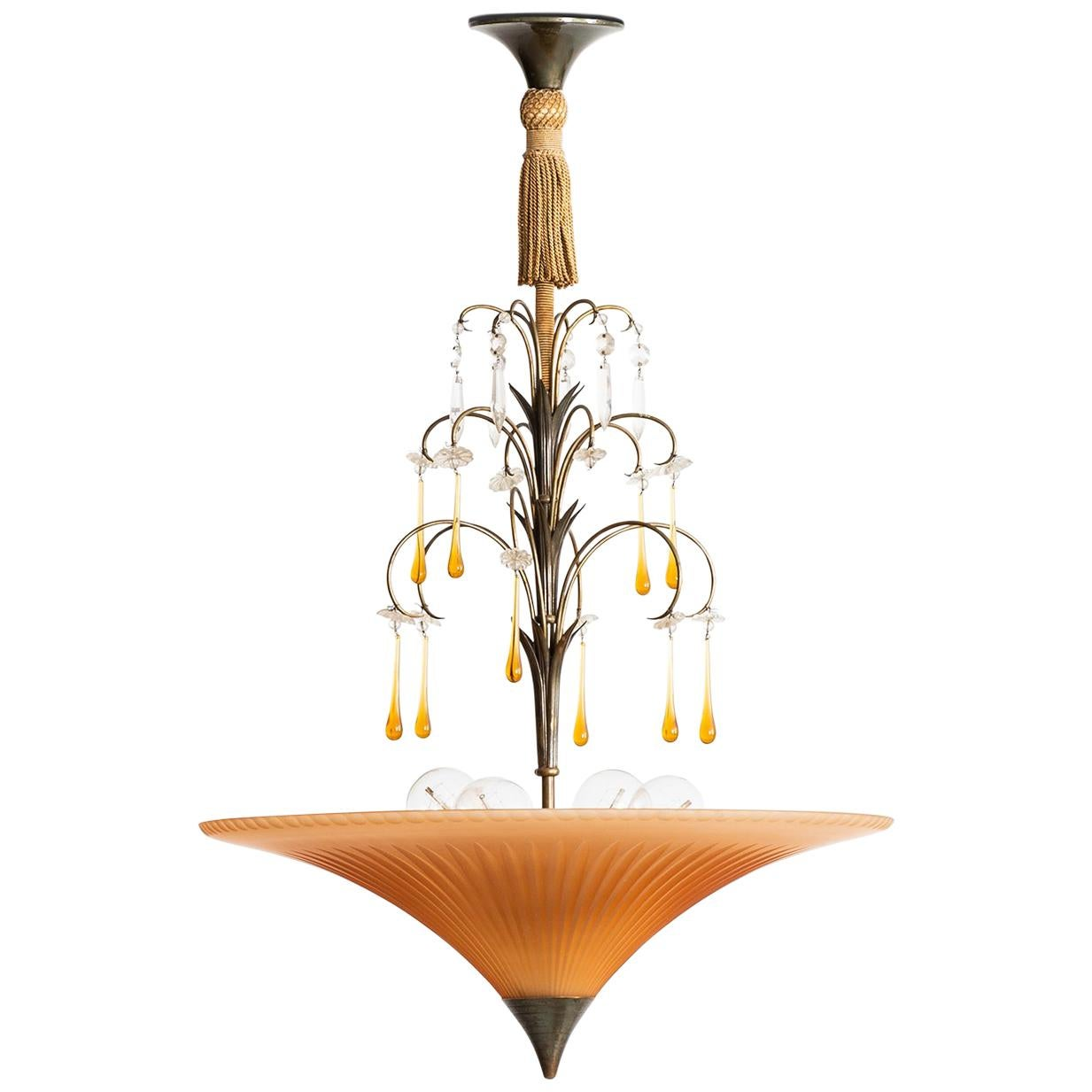 Ceiling Lamp Attributed to Elis Bergh Produced by Böhlmarks in Sweden