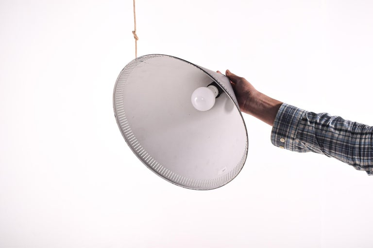 Ceiling Lamp by Bent Karlby for Lyfa, Black Cone, 1960s In Good Condition For Sale In Lisboa, Lisboa