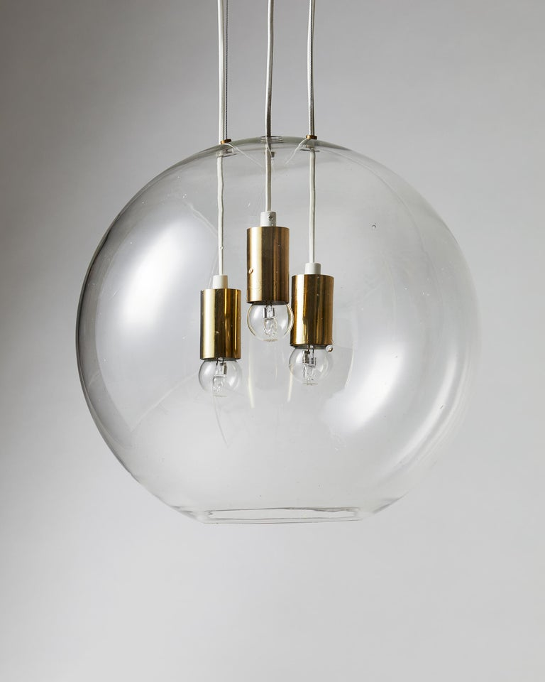 Ceiling Lamp, Designed by AOS 'Ahlgren, Olsson and Silow' for Axel Anell In Good Condition For Sale In Stockholm, SE