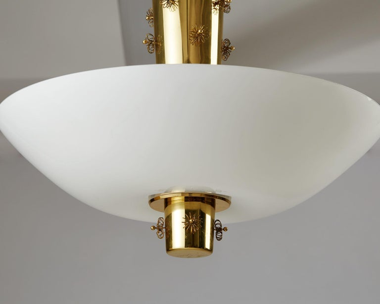 Mid-Century Modern Ceiling Lamp Designed by Paavo Tynell for Taito Oy, Finland, 1950s For Sale