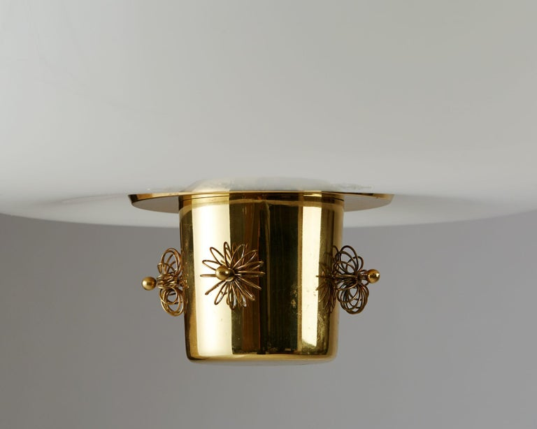 Finnish Ceiling Lamp Designed by Paavo Tynell for Taito Oy, Finland, 1950s For Sale